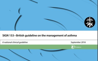 SIGN 153 –  British guideline on the management of asthma 2016